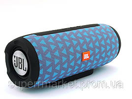 JBL Charge E11 10W копия, портативная колонка c Bluetooth FM MP3, серая голубым, фото 3