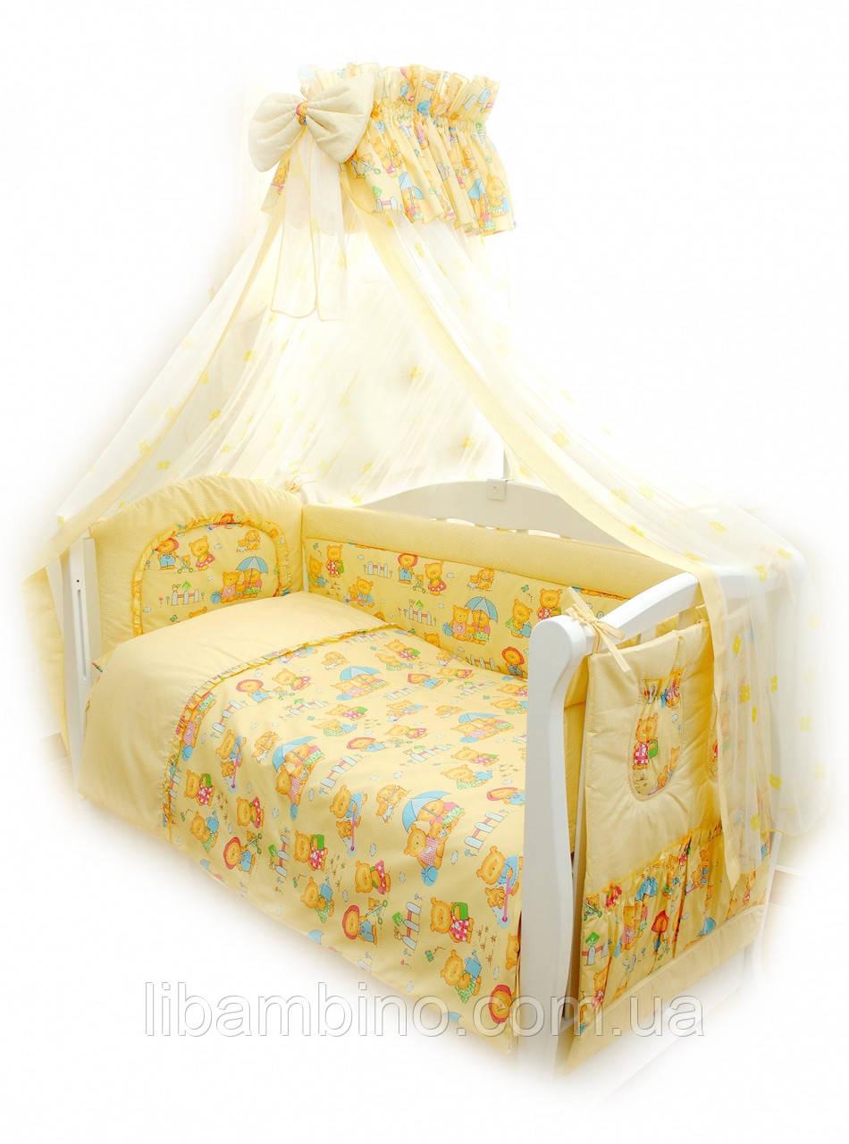 Комплект дитячої постілі Twins Standart Пухнасті ведмедики С-014