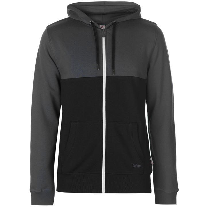 Балахон Lee Cooper Cut and Sew Zip Hoody Mens