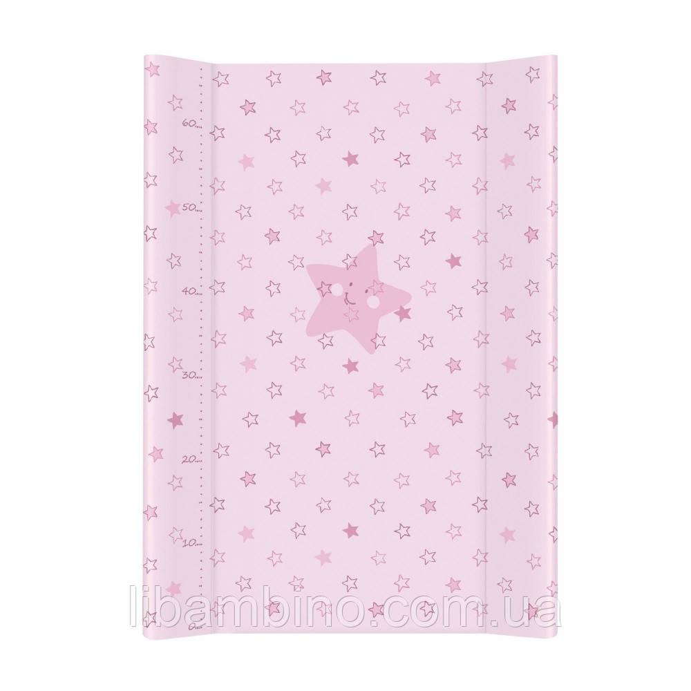 Пеленальна дошка Ceba Baby 50х70 Зірочка рожева