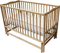 Дитяче ліжечко Веселка шарнір/підшипник відкидний бортик натуральний