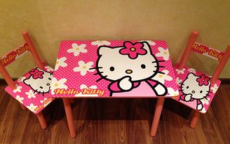 Детский столик и 2 стульчика, серия мультик, китти, Hello Kitty, Украина