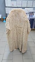 Меховой плед длинный ворс бежевый размер 160*220