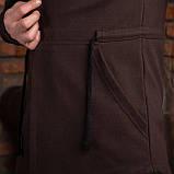 """Коричневая мужская мантия с капюшоном """"Dias"""", фото 5"""