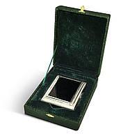 Серебряный портсигар   с камнем оникс