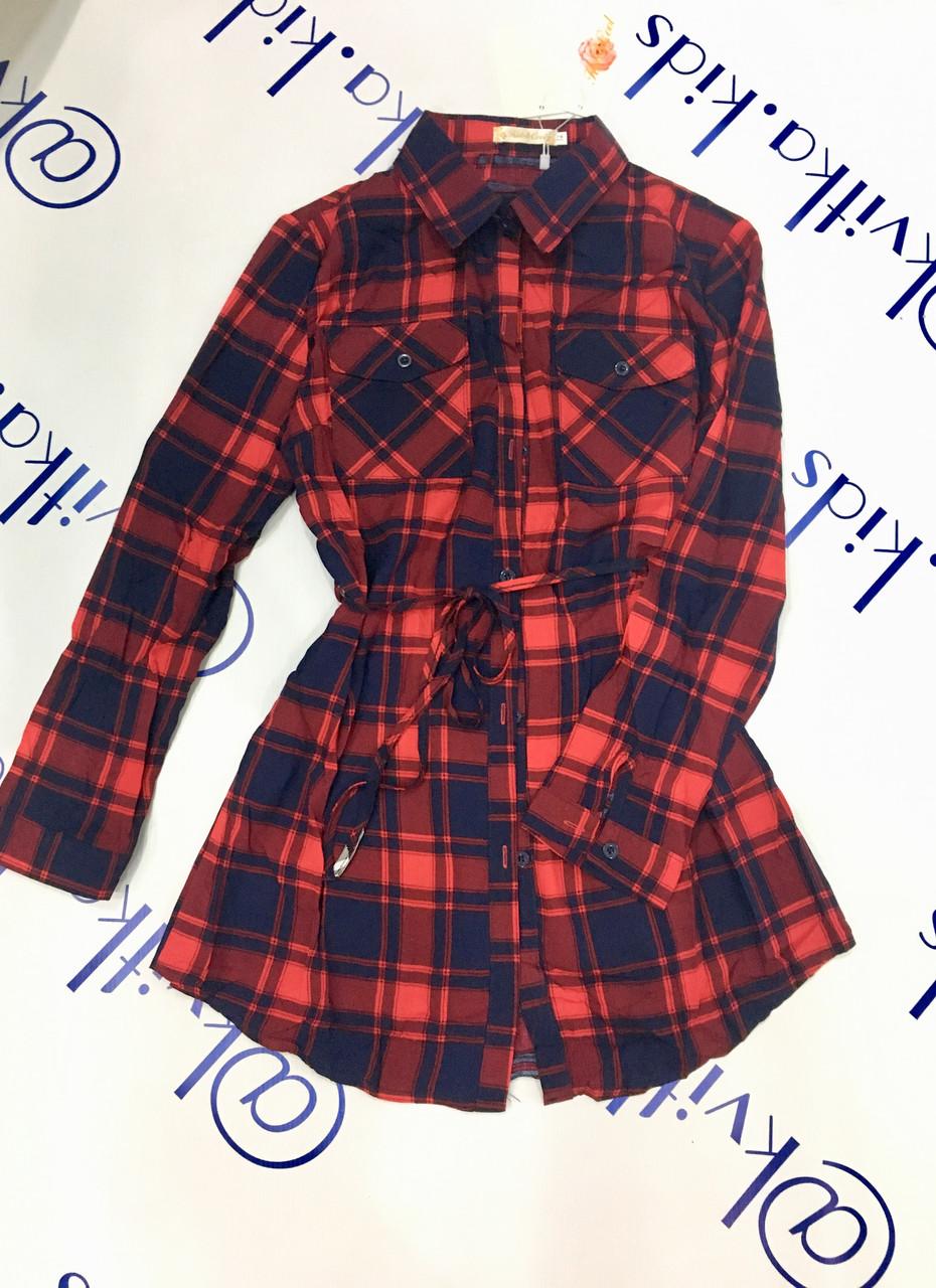 Рубашка для девочки размеры 4-14 лет