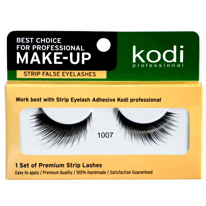 Накладні вії на стрічці Kodi Professional №1007 чорні