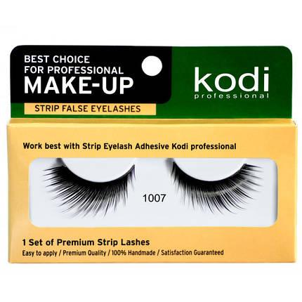 Накладні вії на стрічці Kodi Professional №1007 чорні, фото 2