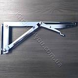 Консоль откидная DC 12350 хром 268 мм. для раскладного стола., фото 2