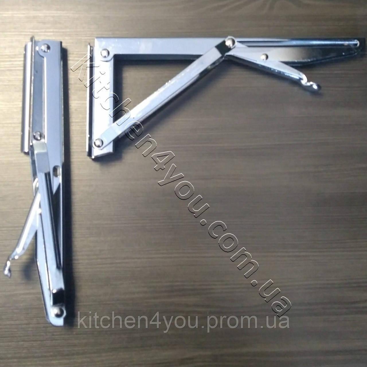 Консоль откидная DC 12350 хром 268 мм. для раскладного стола.
