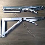 Консоль откидная DC 12350 хром 268 мм. для раскладного стола., фото 3