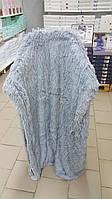Плед с длинным ворсом меховой серый , фото 1