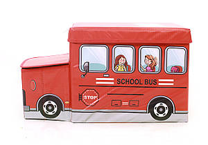 Дитячий пуф Автобус, червоний