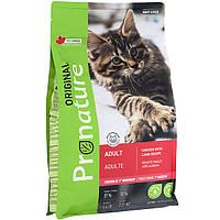 Pronature Original cat Chicken Lamb корм для взрослых кошек с курицей и ягненком, 0.34 кг