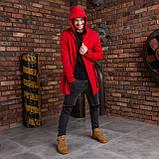 """Чоловіча мантія з капюшоном червоного кольору """"Dias"""", фото 2"""