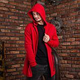 """Чоловіча мантія з капюшоном червоного кольору """"Dias"""", фото 3"""