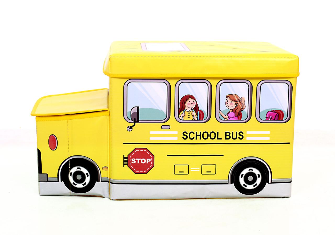 Детский пуф Автобус Желтый