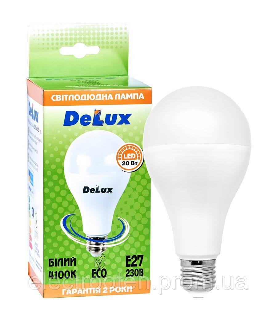 Лампа світлодіодна DELUX BL80 20 Вт 6500K Е27 білий