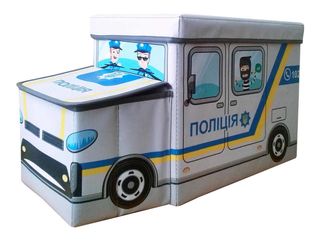 Детский пуф Автобус Полиция
