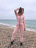 Теплый комбинезон женский Трехнитка с начесом Размер 42 44 46 В наличии 3 цвета, фото 7