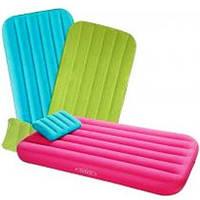 Детский надувной велюр-матрас с подушкой Intex 66801 3 цвета