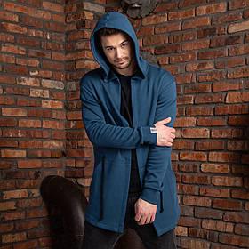 """Мужская мантия с капюшоном синего цвета """"Dias"""""""