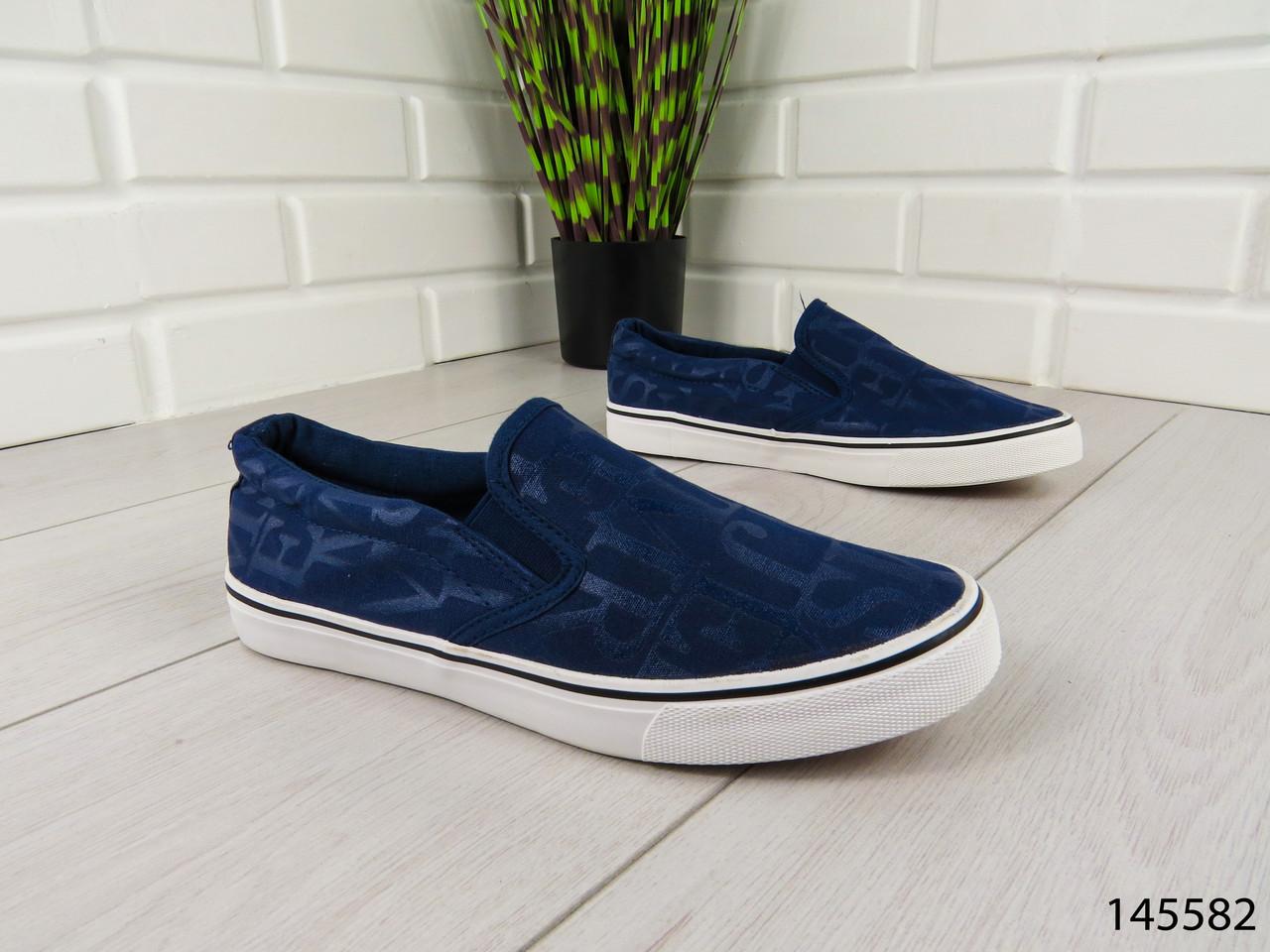 """Мокасины, кроссовки, кеды синие """"Azari"""" текстиль, повседневная, удобная, весенняя, мужская обувь"""