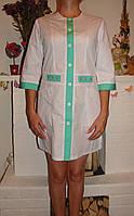 Оригинальный женский медицинский халат батист 2188 ( 42-60 р-р ), фото 1
