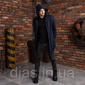 """Мантія для чоловіків з капюшоном темно-синя """"Dias"""""""