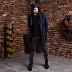"""Мантия для мужчин с капюшоном темно-синяя """"Dias"""""""