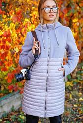 Женская удлиненная куртка с капюшоном «Агния»