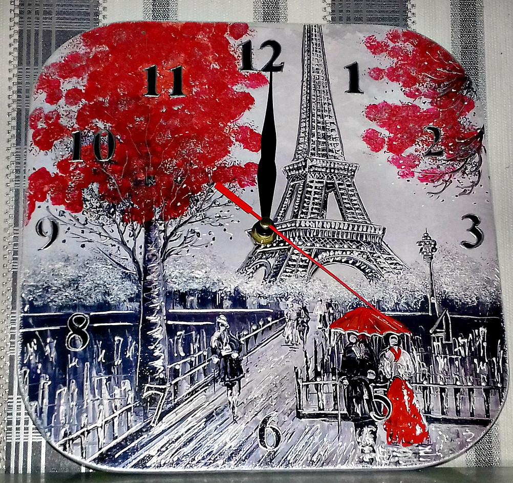 Часы интерьерные Париж 3