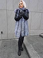 Эксклюзив !!!!Куртка- трансформер с мехом чернобурки в наличии 46 48