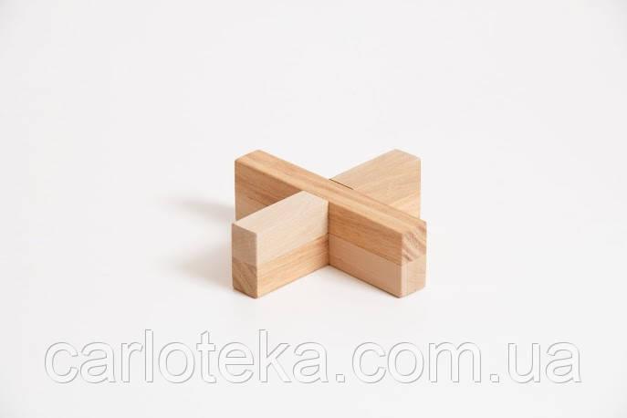 """Деревянная головоломка """"Крест-вертушка"""""""