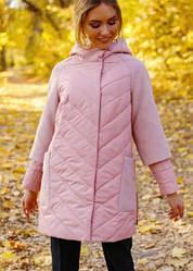 Женская куртка «Фаина» с кашемировыми рукавами