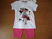Детский летний комплект футболка и бриджи для девочки 2-4года.Турция