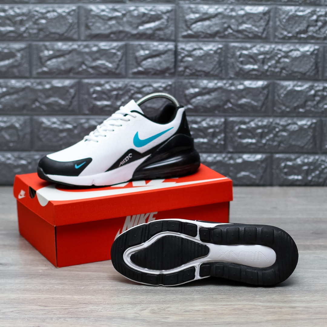 34998f8d Мужские кроссовки Nike Air Max 270 (white/black), бело-черные найк ...