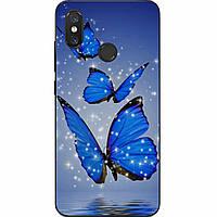 Силиконовый чехол с рисунком для Xiaomi Mi 8 Три бабочки
