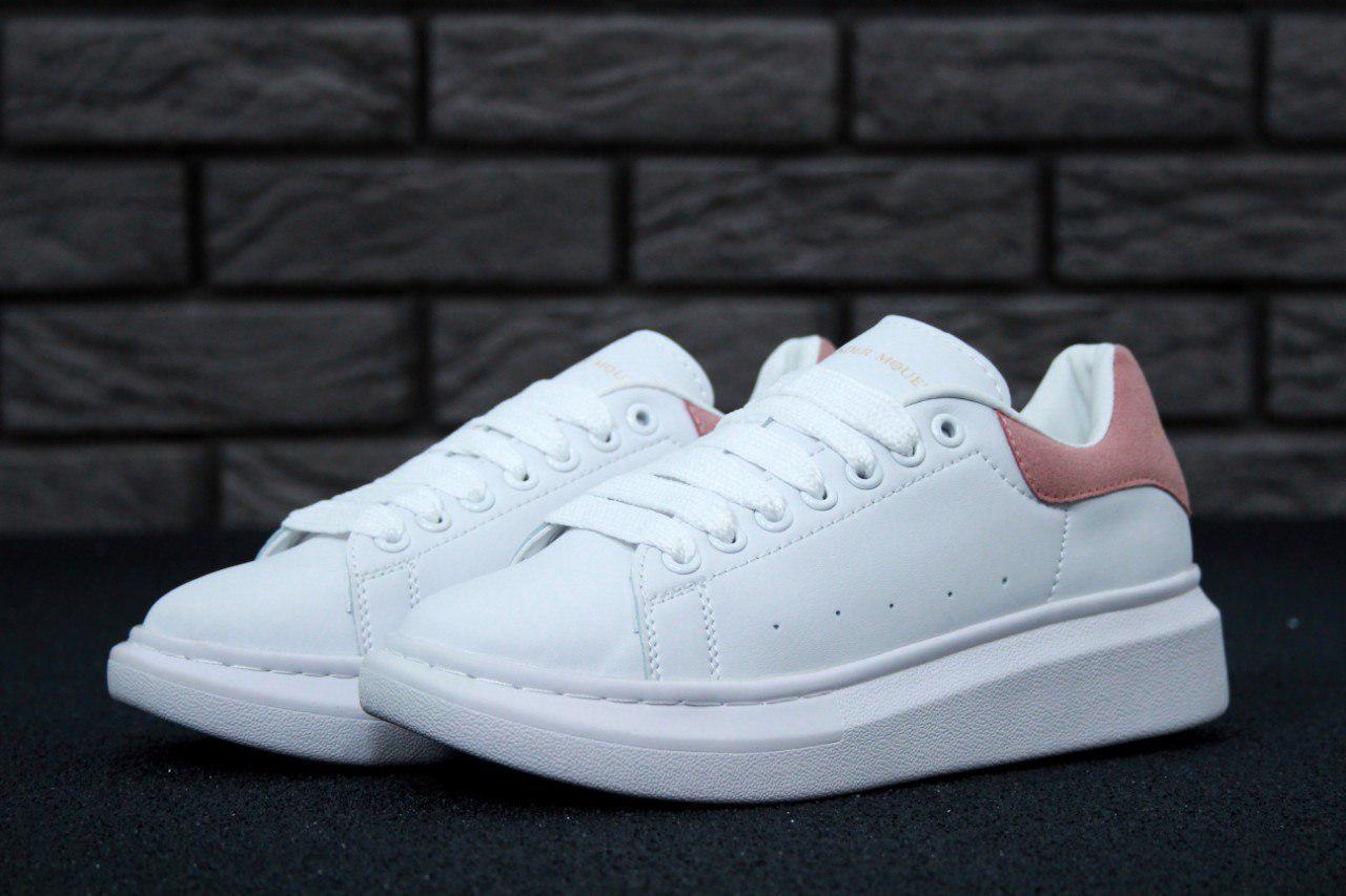 Женские Кроссовки Кеды Adidas Alexander Mcqueen Адидас (реплика) - Интернет  Магазин