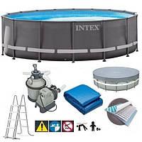 Бассейн Intex 26334 Ultra XTR Ø 610 х 122 см, песочный фильтр 10 000 л/ч, лестница, тент, подстилка