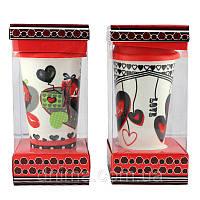 Кружка с силиконовой крышкой в подарочной упаковке Love