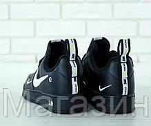 Мужские кроссовки Nike Air Force 1 '07 LV8 Utility Black в стиле Hайк Аир Форс низкие черные, фото 2