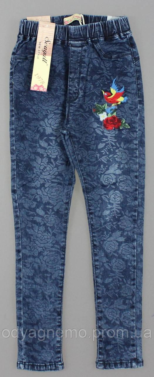 Лосины с имитацией джинсы для девочек Seagull оптом, 134-164 рр.
