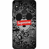 Силиконовый чехол с рисунком для Xiaomi Mi 8 Микки Supreme