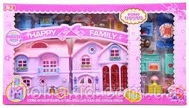 Двухэтажный  Кукольный дом 8066 состоящий из нескольких комнат, с подсветкой