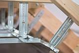 Тримач профіля CD для утеплення даху 160 мм товщина 1 мм, фото 4