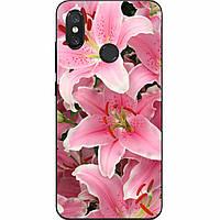Силиконовый чехол с рисунком для Xiaomi Mi 8 Цветы лилии