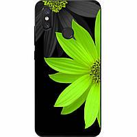 Силиконовый чехол с рисунком для Xiaomi Mi 8 Зеленый цветок