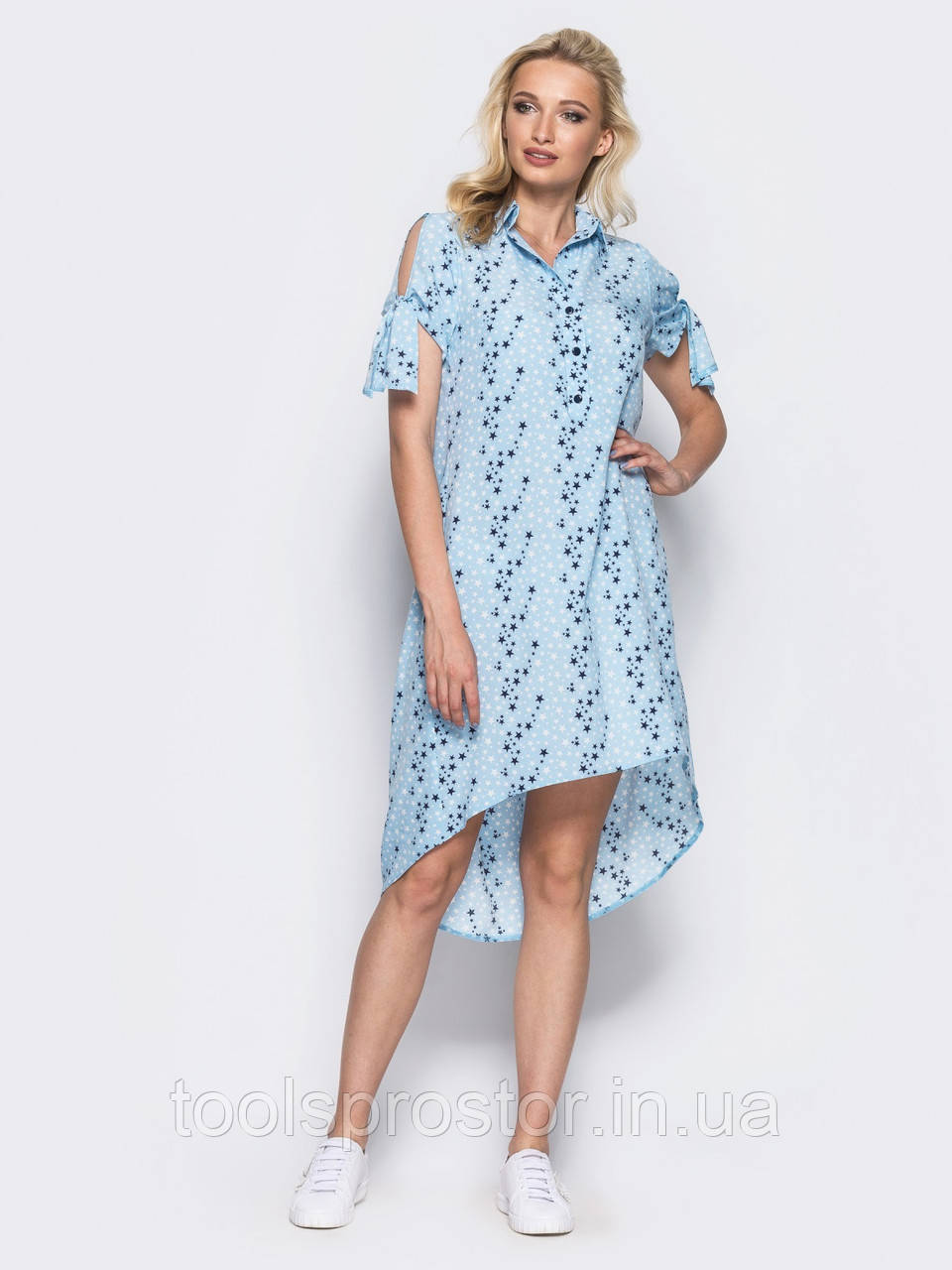 0fa4108cc98 💡Голубое Платье-рубашка   Размер 44