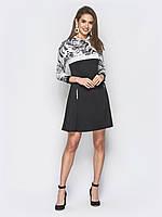 💡Черное платье с контрастным верхом   Размер 42 15dac1ddd8753
